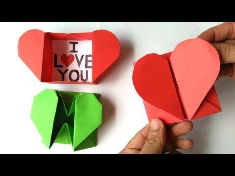 Origami Heart Present Box | Origami corazon, Diagramas de origami ... | 360x480