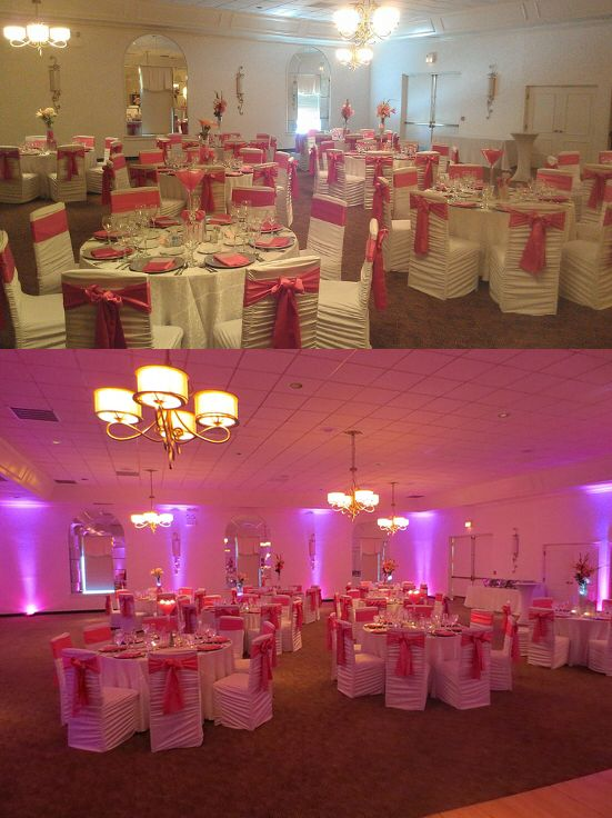 Up Light Pictures Before And After From A Wedding Reception At Ritz Charles Indianapolis Indiana Lighting DJ Services By Grapevine Producti