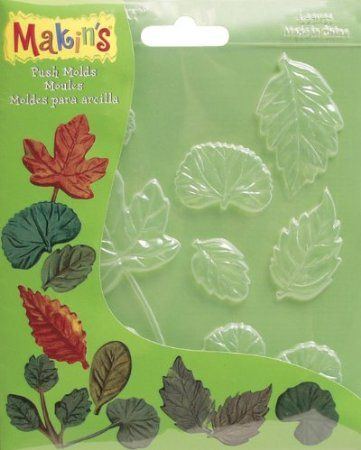 Amazon.com: Makin's USA Push Clay Molds, Leaves: Arts, Crafts & Sewing
