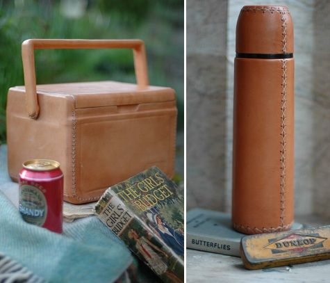 Leather picnic accessories