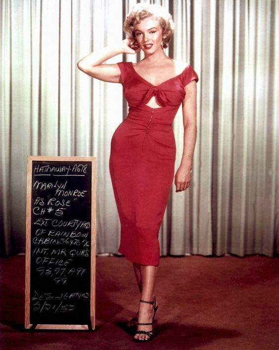 Marilyn Monroe Red Dress HOT SEXY GIRL SILK FABRIC ART POSTER ...