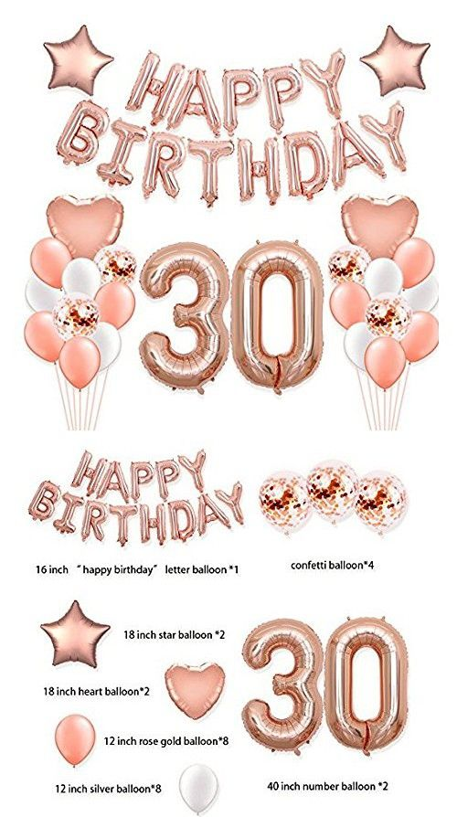 """GOOD LUCK 16/"""" Balloons Foil Rose Gold Silver Letters Banner Garland Party Decor"""