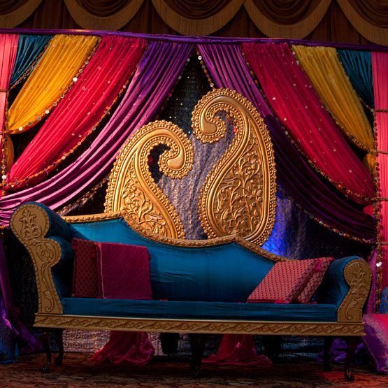 Elegant Events USA - Sangeet Decor. Paisleys never get old