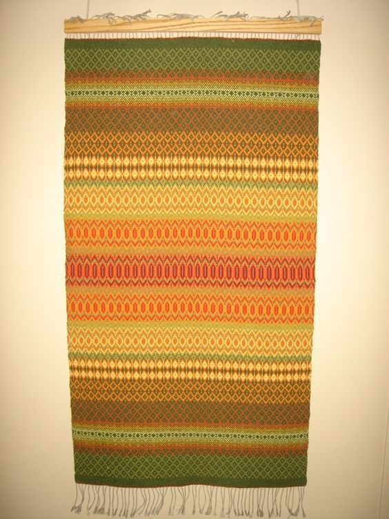 Wool Handwoven Rosepath Rug in Fall Colors. $500.00, via Etsy.