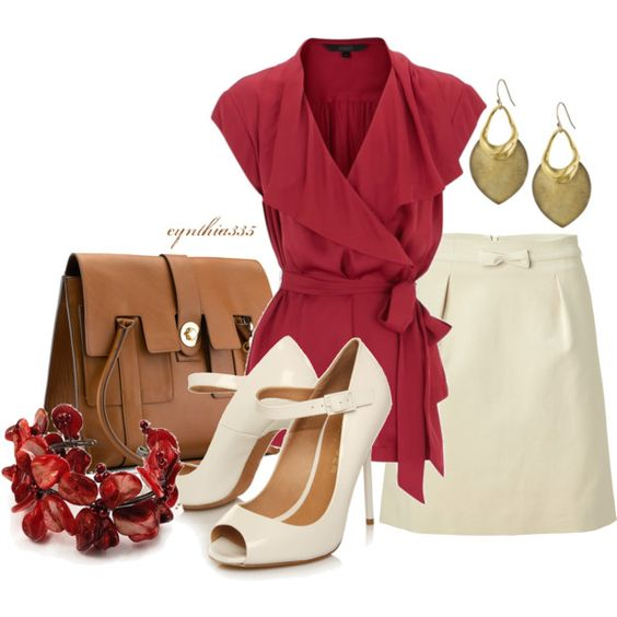 Work Outfit: Fashion Outfit, Office Beauty, The Office, Dream Closet, Holiday Outfit, Work Outfits, Red Cream