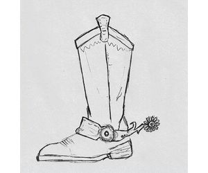 how to draw realistic cowboy boots