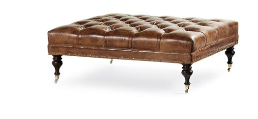 Hancock And Moore Ottomans And Leather On Pinterest