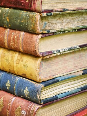"""""""A Home WIthout Books, is like a body with out a soul"""". Cicero said that thousands of years ago, and it's still true. Old books are the best. I pick them up at flea markets for a few dollars. -  Sincerely, JoAnne Biddy Craft"""