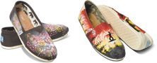 "TOMS designed by Haitian artists for ""Change in Haiti"""