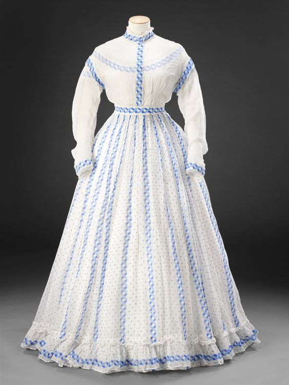 Day dress, late 1860′s From the John Bright Historic Costume Collection