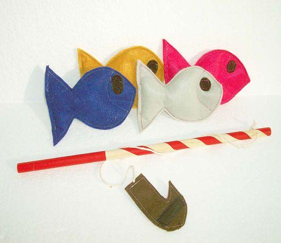 Fishing Game Ecofriendly Toy  Montessori Toy  READY by Sapucha, $12.00