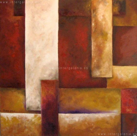 Cuadros abstractos oleo colores tierra buscar con google for Cuadros abstractos con marco