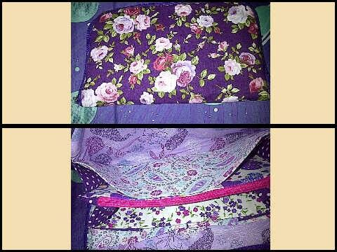 Dompet akordion seri bunga ungu