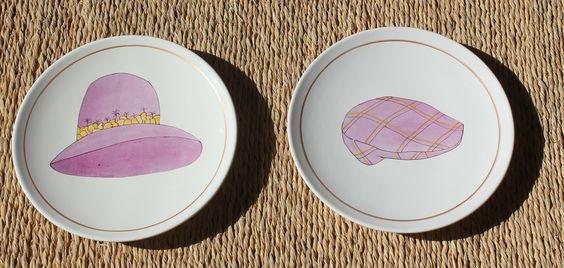platos pintados a mano