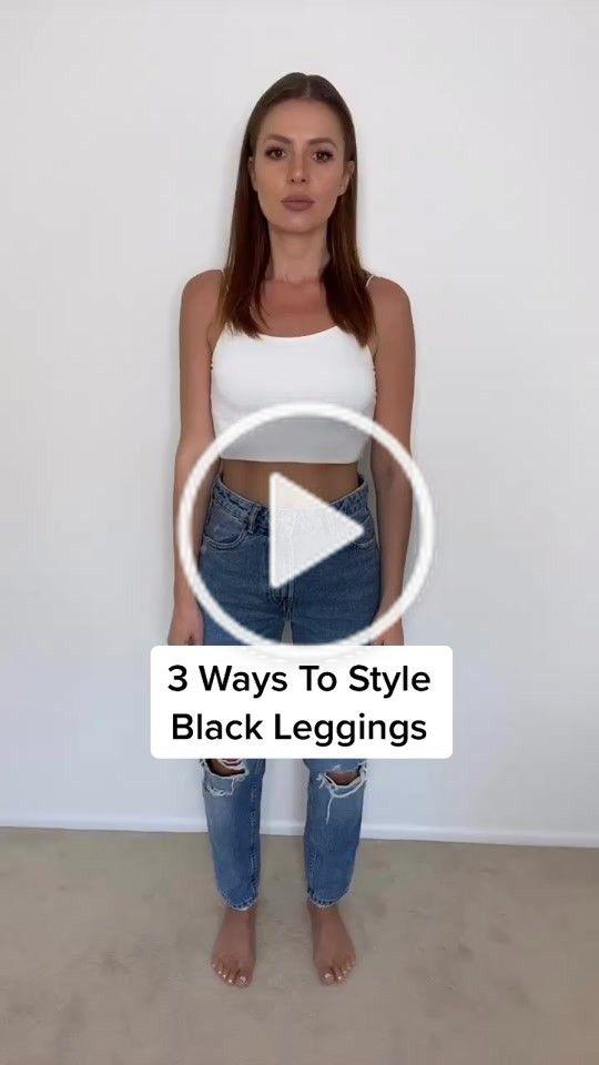 Kristina Kacheeva Kristinakacheeva On Tiktok 3 Ways To Style Leggings Minitutorials Howto Styletips Tiktokfashi Tiktok Fashion Leggings Fashion Style