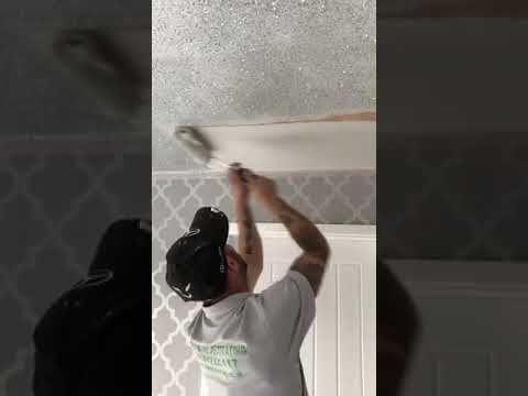 Glittered Ceilings Walls Metallic Silver Glitter Ceiling Youtube In 2020 Glitter Ceiling Glitter Paint For Walls Glitter Paint Ceiling