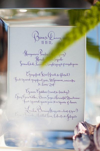 Photography by Samuel Lippke Photography / Event Designby Alchemy Fine Events with Kathryn Murray Calligraphy Wedding Menu