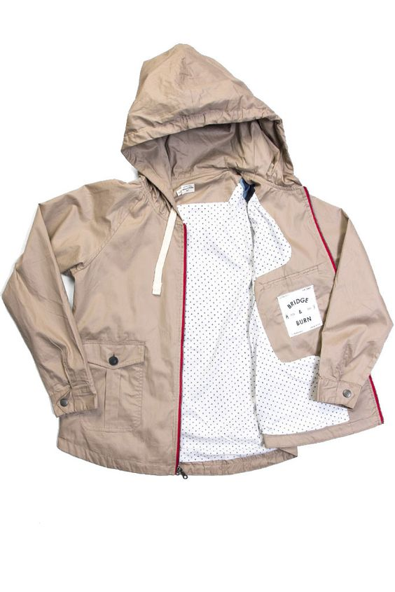 Macleay Khaki Windbreaker Jacket