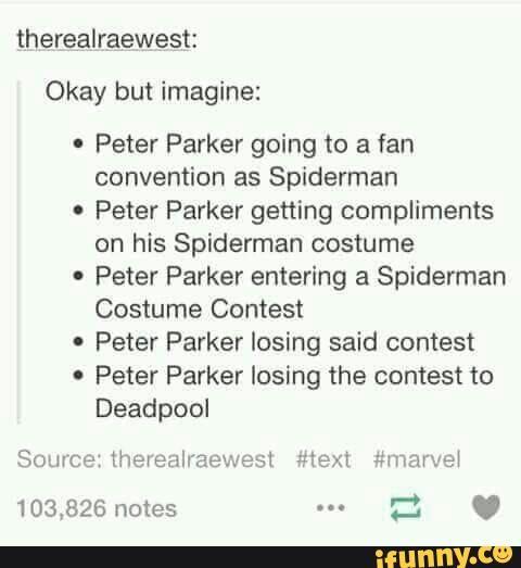 tumblr, spiderman, deadpool