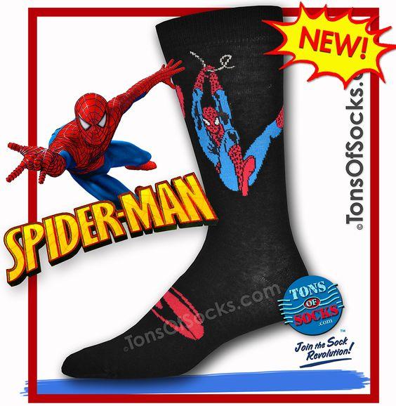 Men's Spider-Man Socks (Swinging)http://www.tonsofsocks.com/swing.html