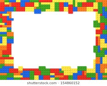 multi colored toy bricks picture frame