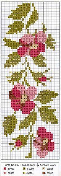 Point de croix grille fleur kanavice pinterest cross stitch stitches and google - Grille point de croix pinterest ...
