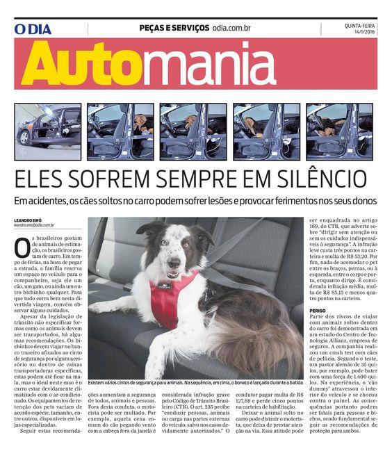 Título: Eles sofrem sempre em silêncio Veículo: O Dia Data: 14/01/2016 Cliente: Allianz
