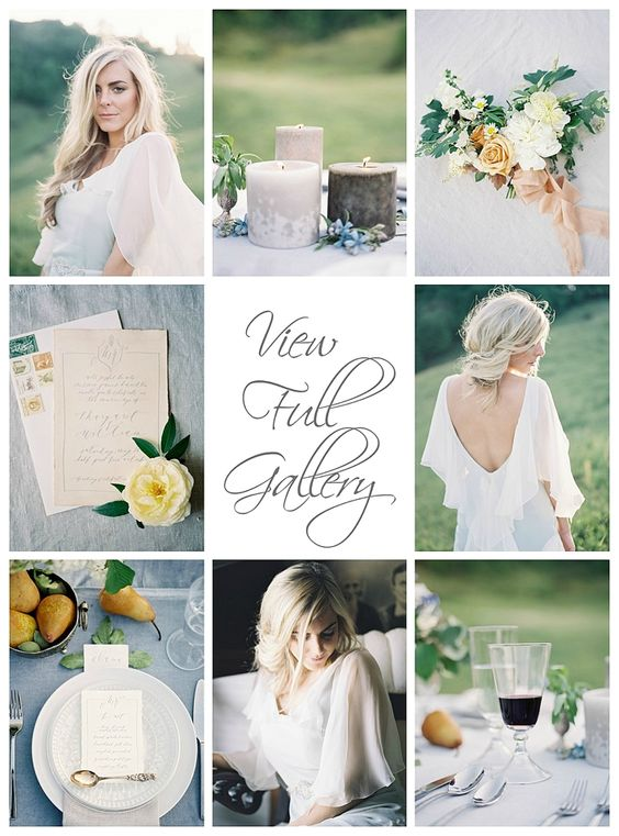 Peach and blue wedding inspiration   by Heather Payne Photography