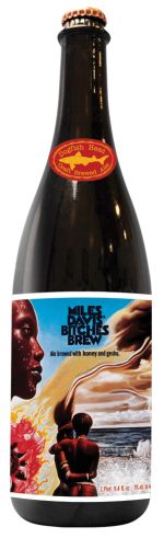 In honor of the 40th anniversary of the original release of Bitches Brew, Miles Davis' 1970 paradigm-shifting landmark fusion breakthrough, we've created our own Bitches Brew - a bold, dark beer that's a fusion of three threads imperial stout and one thread honey beer with gesho root, a gustatory analog to Miles' masterpiece.