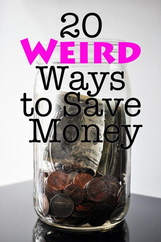 Weird ways to save