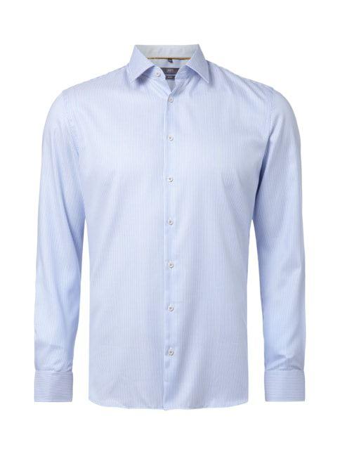 Slim Fit Business-Hemd mit Streifenmuster Blau / Türkis - 1