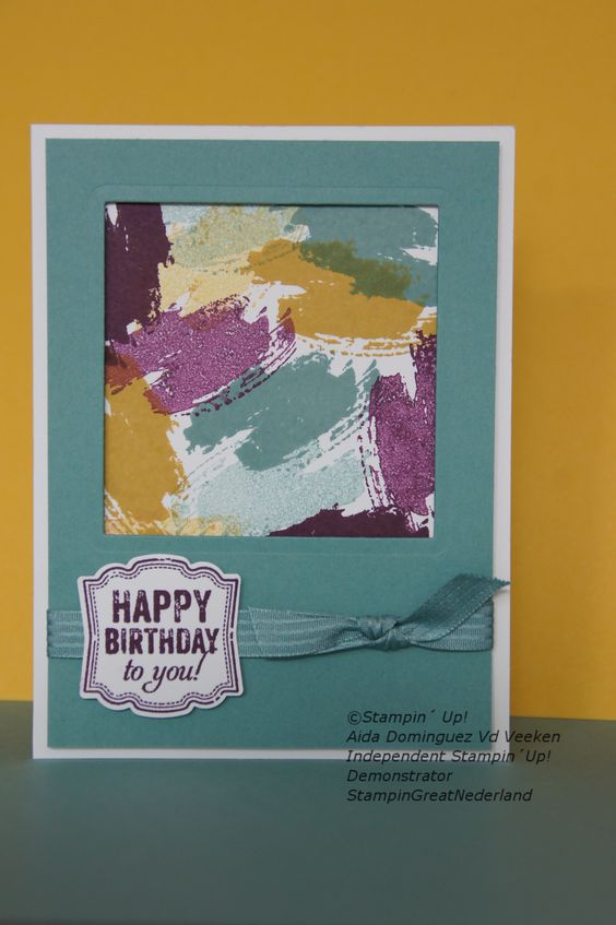 Like the framing Work of art stamp set, Stampin' Up!