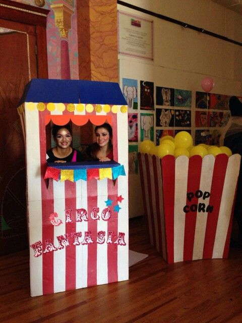 Diy Circus Ticket Booth And Giant Popcorn Box Diy