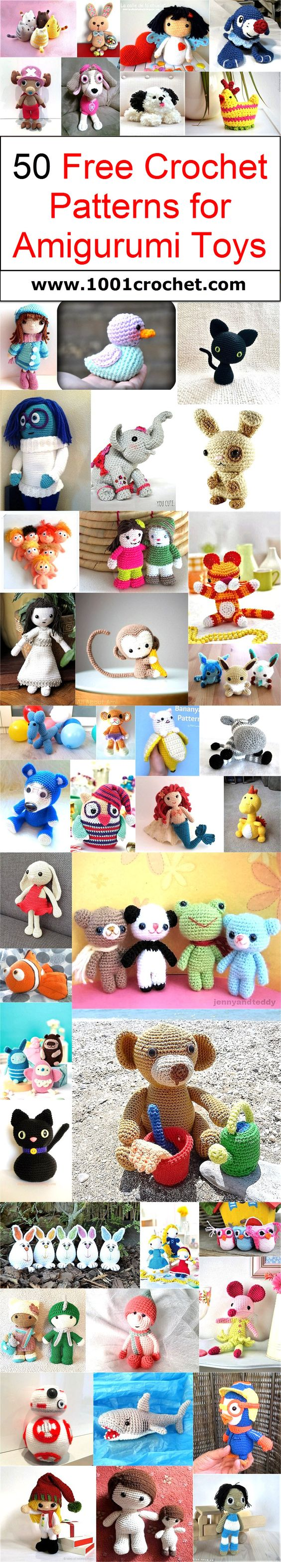 Today again we have come up with 50 free crochet patterns for amigurumi toys, and trust me this time again your kids are just going to love you for these awesome crocheted creations.: