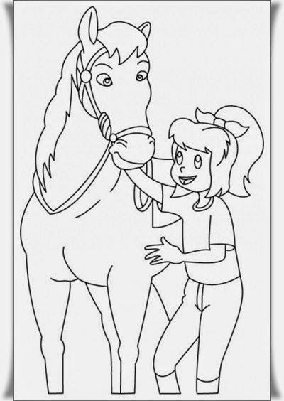 bibi und tina ausmalbilder pferde 05