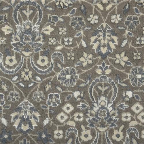 Nourison Glamour Kashan Smoke Carpet