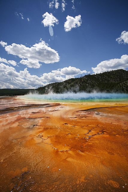 Grand Prismatic Spring.  Yellow stone National Park, Wyoming