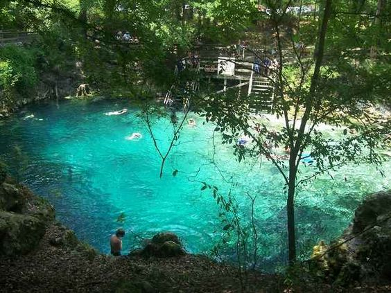 Madison Blue Springs State Park in Lee, Florida.