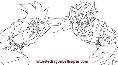 Goku En 4 Dibujos Para Pintar De Dragon Ball Super Sin Color