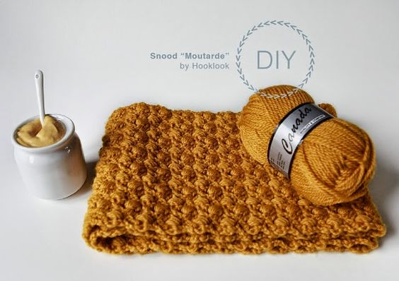 MES FAVORIS TRICOT-CROCHET: Modèle gratuit : Un snood au crochet