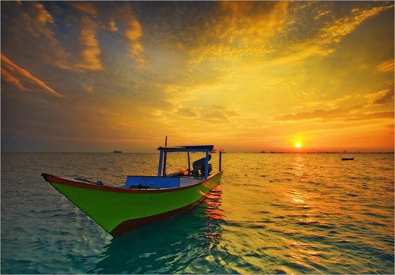 Sunset by Risharadana
