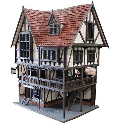 Unique OOAK Handcrafted Tudor Dolls House By Kevin Jackson Dollshouses. The Rochester Hall is probably the most complicated structured house built to date by Kevin, with every single one of the 2500 pieces used to construct it hand made and fitted individually.