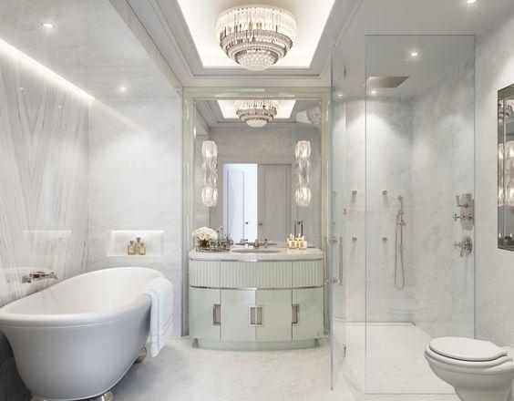 Masters Bath Design And Villas On Pinterest