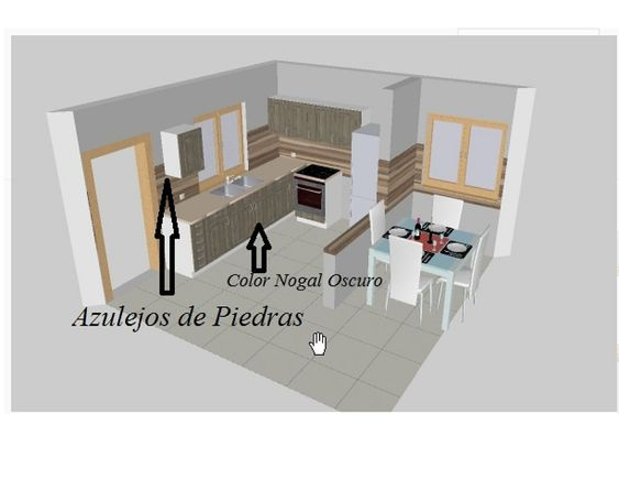 Cocina de 4 metros de largo por 2 metros de ancho 2 for Cocinas lineales de cuatro metros