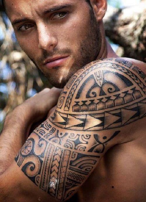 Sun And Shark Teeth Polynesian Tribal Arm Tattoos Samoan Tribal Tattoos Tribal Tattoos For Men