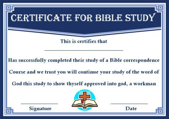 10 Bible Study Certificate Templates Useful To Present On Completion Of Bible Study Program Template Certificate Templates Bible Study Template Bible Study