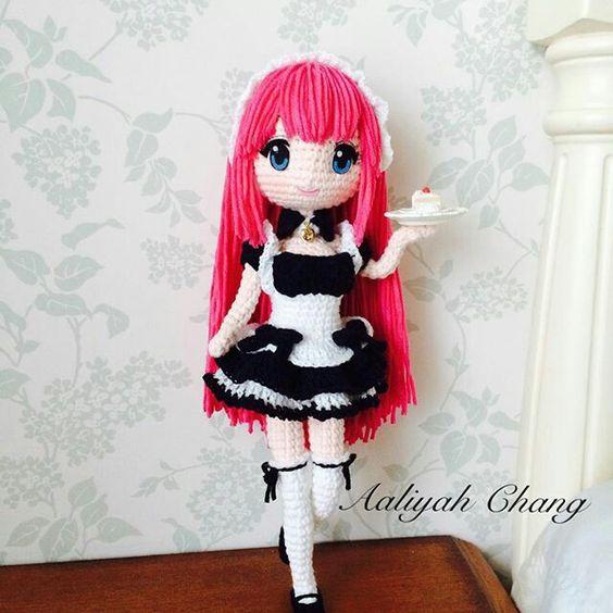 Amigurumi Anime Patrones Gratis : Chica anime kawaii patrones amigurumi and chicas on