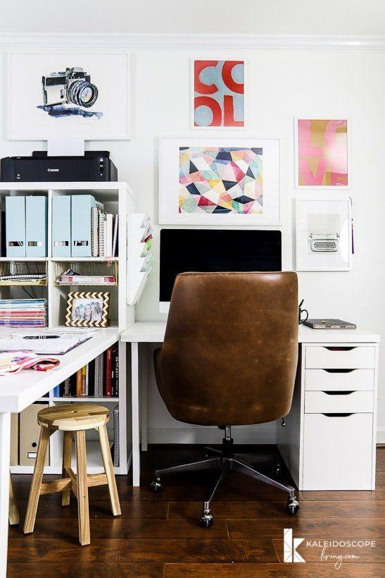 10 Best Ikea Desk Hacks That Are Super Easy To Do Dear Home Maker In 2020 Ikea Hack Living Room Best Ikea Office Makeover