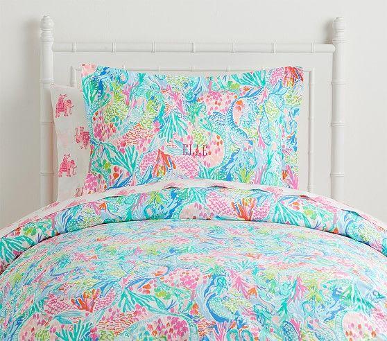 Lilly Pulitzer Organic Mermaid Cove Duvet Kids Bedroom Designs