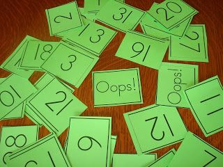 """Identify Numbers 1-30 """"OOPS"""" then put in order"""